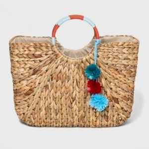 A New Day l Circle Handle Straw Tote Bag